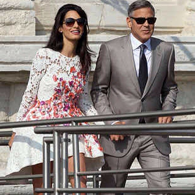 The fabulous George Clooney and his wife Amal!  Congrats!