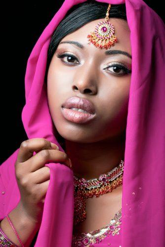 Beauty portrait of a young indian woman, closeup shot - shutterstock_70202740