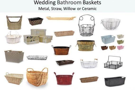 Bathroom Baskets wedding bathroom baskets add a sweet and special touch - world