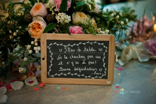 Placer ses invités à table - plan de table