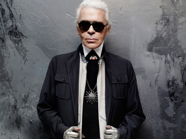 Karl Lagerfeld iconic look