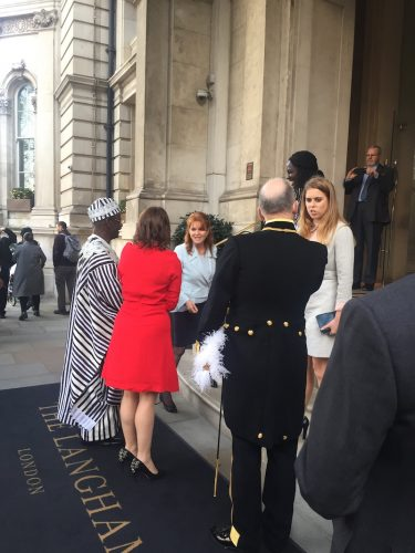 Langham London Fergie and Princess Beatrice