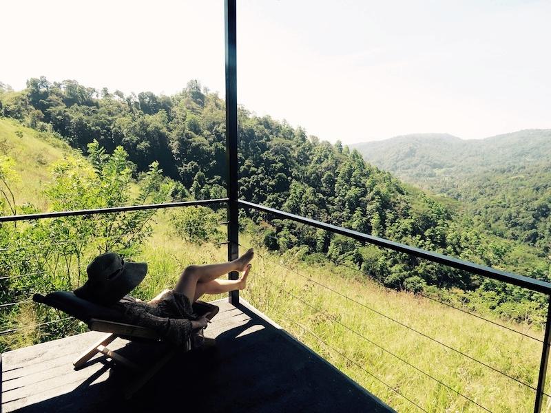 Santani villa balcony view