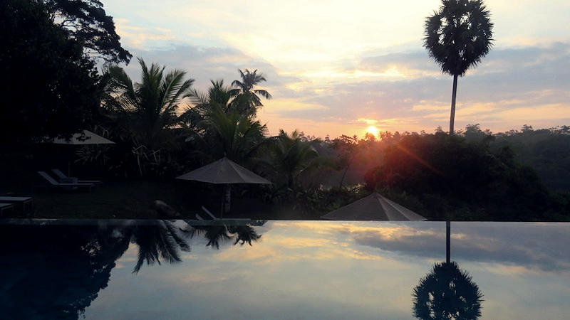 Tri Lanka pool sunrise sunset